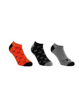 Diesel Skm Gost Unisex Κάλτσα Σετ 3 Ζευγαριών Μαύρο-Γκρί-Πορτοκαλί