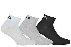 Fila Unisex Αθλητική Κάλτσα F9300 Λευκό-Γκρί-Μαύρο 3τεμ