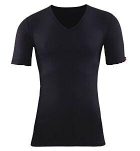Blackspade Unisex Ισοθερμικό V-Neck T-Shirt Short 1263 Μαύρο