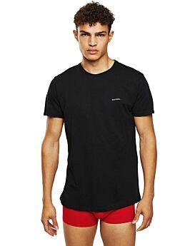 Diesel UMLT-JAKE Cotton T-Shirt With Logo Μαύρο