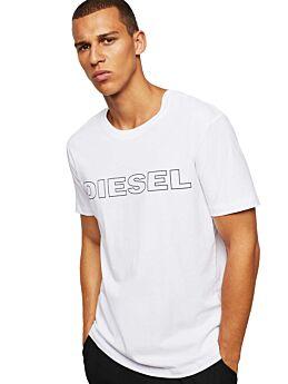 Diesel UMLT-JAKE Logo T-Shirt Cotton Λευκό