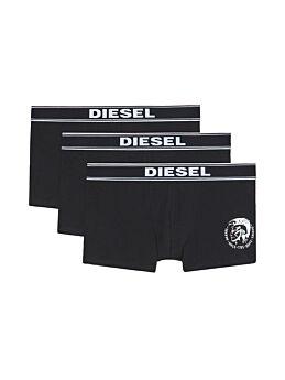 Diesel Cotton Stretch Trunks 3pack Μαύρο