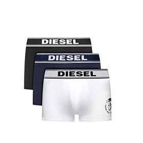 Diesel Cotton Stretch Trunks 3pack Μαύρο-Λευκό-Μπλέ