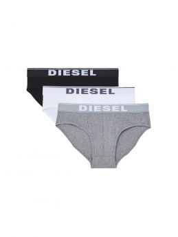 Diesel Andre Cotton Stretch Briefs 3pack Μαύρο-Λευκό-Γκρί