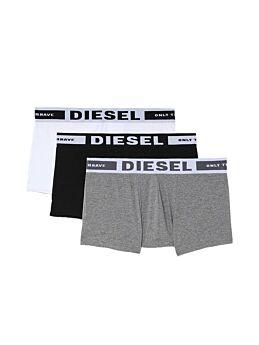 Diesel Kory Cotton Stretch Trunks 3pack Μαύρο-Λευκό-Γκρί
