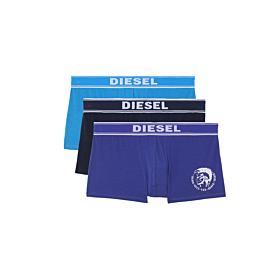 Diesel Cotton Stretch Trunks 3pack Μπλέ
