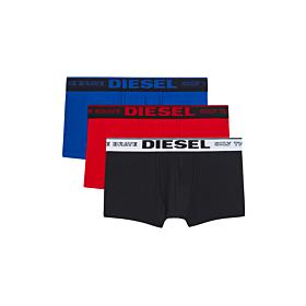 Diesel UMBX Damien 3pack Trunks Μαύρο-Μπλέ-Κόκκινο