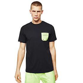 Diesel BMOWT-DIEGO Cotton T-Shirt With Contrast Pocket Μαύρο