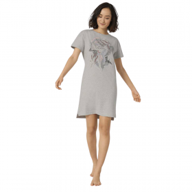Triumph Nightdresses NDK 10 X Γυναικείο Νυχτικό Γκρι Μελανζέ