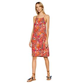 Triumph Botanical Leaf Dress Γυναικείο Φόρεμα Κοραλί