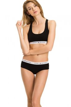 Tommy Hilfiger Woman Cotton Sporty Bralette Μαύρο
