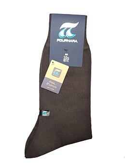 Πουρνάρα Αντρική Κάλτσα Μάλλινη Κλασική Καφέ 158