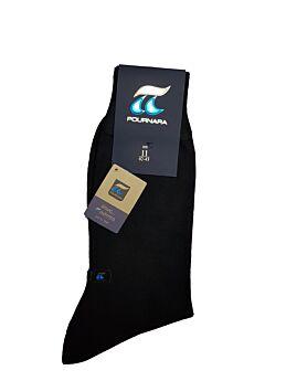 Πουρνάρα Ανδρική Κάλτσα Μάλλινη Κλασική Μαύρο 158