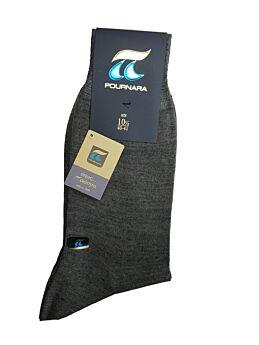 Πουρνάρα Ανδρική Κάλτσα Μάλλινη Κλασική Γκρι Μεσαίο 158