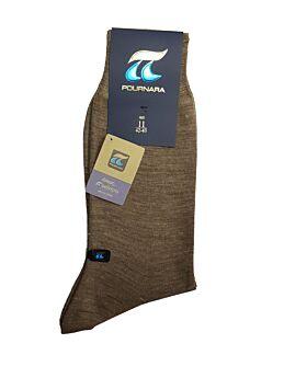 Πουρνάρα Ανδρική Κάλτσα Μάλλινη Κλασική Σοκολά 158