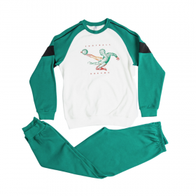 Dreams Παιδική Πιτζάμα Αγόρι Football Εκρού Λευκό-Πράσινο