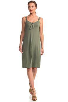 Vamp Γυναικείο Αμάνικο Φόρεμα Πράσινο Ελιάς