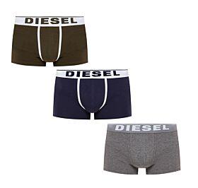 Diesel Cotton Stretch Trunks 3pack Μπλέ-Γκρί-Χακί