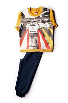 Joyce Βρεφική Φόρμα Σετ Αγόρι Joyce Rally 85420 Κιτρινο