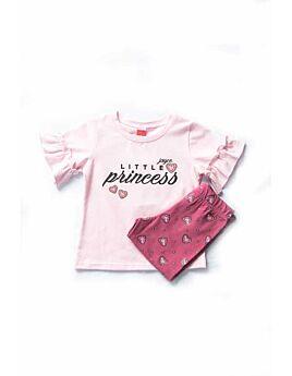 Joyce Βρεφικό Σετ Κορίτσι Little Princess Ρόζ-Σάπιο Μήλο