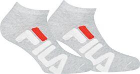 Fila Unisex Αθλητική Κάλτσα Σοσόνι F9199 2τεμ Γκρί