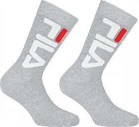 Fila Unisex Αθλητική Κάλτσα F9598 Γκρί Μελανζέ 2τεμ