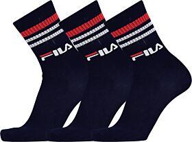 Fila Unisex Κάλτσα Αθλητική Unigue Lifestyle F9090 Μπλέ Σκούρο 3τεμ