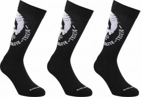 Diesel Ray Mohawk Ανδρική Κάλτσα Σετ 3 Ζευγαριών Μαύρο