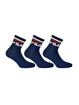 Fila Unisex Αθλητική Κάλτσα F9398 Μπλέ Μαρίν 3τεμ