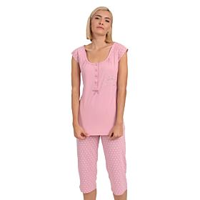 Lydia Γυναικεία Πιτζάμα Βαμβακερή Ροζ