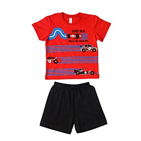 Dreams Βρεφική Πιτζάμα Αγόρι Super Race Κόκκινο-Μαύρο