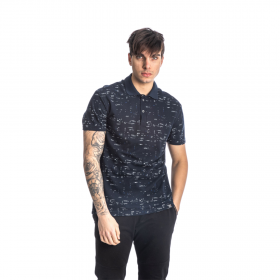 Paco & Co Polo T-Shirt Small Latters Μπλε Μαρίν