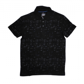 Paco & Co Polo T-Shirt Small Latters Μαύρο