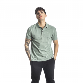 Paco & Co Polo T-Shirt Small Latters Μέντα