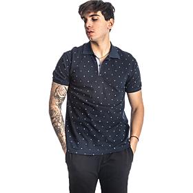 Paco & Co Polo T-Shirt Pc Pattern Μπλε Μαρίν