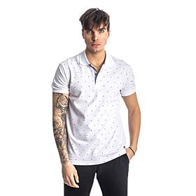Paco & Co Polo T-Shirt Pc Pattern Λευκό