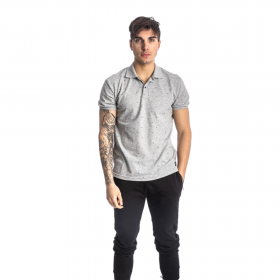 Paco & Co Polo T-Shirt Pc Pattern Γκρι Μελανζέ