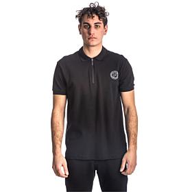 Paco & Co Polo T-Shirt Μονόχρωμο 213608 Μαύρο