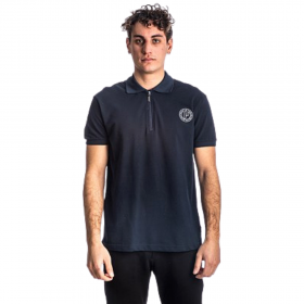Paco & Co Polo T-Shirt Μονόχρωμο 213608 Μπλε Μαρίν