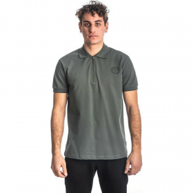Paco & Co Polo T-Shirt Μονόχρωμο 213608 Χάκι