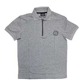 Paco & Co Polo T-Shirt Μονόχρωμο 213608 Γκρι Μελανζέ