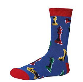 Ysabel Mora Ανδρική Βαμβακερή Κάλτσα 22799 Μπλε Ρουά-Multicolor