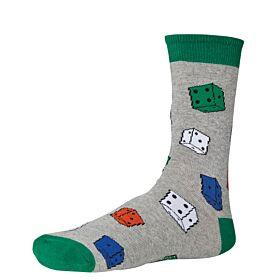 Ysabel Mora Ανδρική Βαμβακερή Κάλτσα 22799 Γκρι Μελανζέ-Multicolor