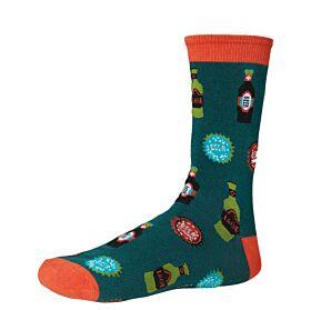 Ysabel Mora Ανδρική Βαμβακερή Κάλτσα 22800 Χακί-Multicolor