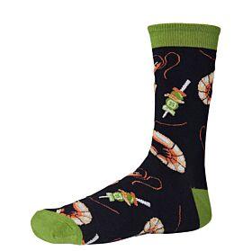 Ysabel Mora Ανδρική Βαμβακερή Κάλτσα 22800 Μαύρο-Multicolor