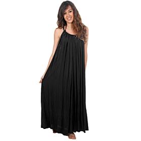 D'DBalears Γυναικείο Maxi Φόρεμα Μαύρο