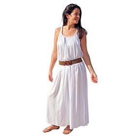 D'DBalears Γυναικείο Maxi Φόρεμα Λευκό