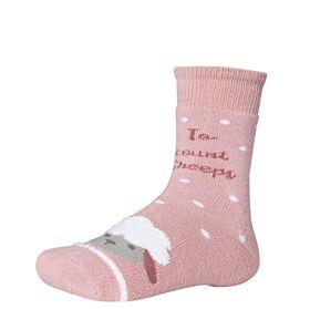 Ysabel Mora Βαμβακερή Αντιολισθητική Κάλτσα 32269 Ροζ