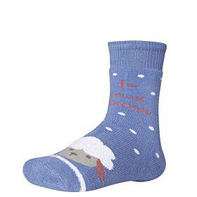Ysabel Mora Βαμβακερή Αντιολισθητική Κάλτσα 32269 Μπλε Ραφ