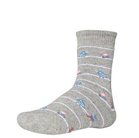Ysabel Mora Βαμβακερή Αντιολισθητική Κάλτσα 32270 Γκρι Μελανζέ